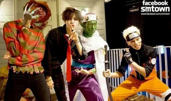 SHINeeメンバー、「恒例!SM仮装かぼちゃ(ハロウィン)パーティー」に出演!・・「これ誰?」 - コピー