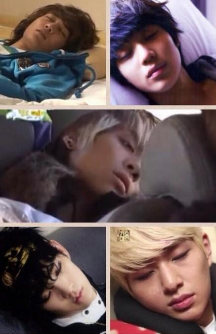 SHINee (シャイニー)のメンバーたちは、ちゃんと睡眠時間取れてる?寝顔画像写真